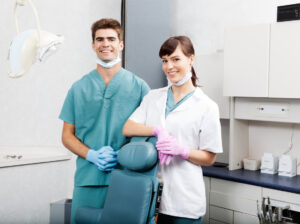Dental hygienists in clinic
